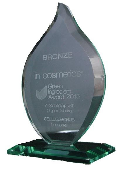 green ingredient award 2015 - CELLULOSCRUB LESSONIA