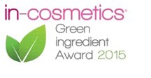 green ingredient award 2015 - incosmetics logo